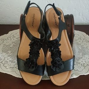 ROAMANS * COMFORTVIEW * T~STRAP SANDALS Size 10WW